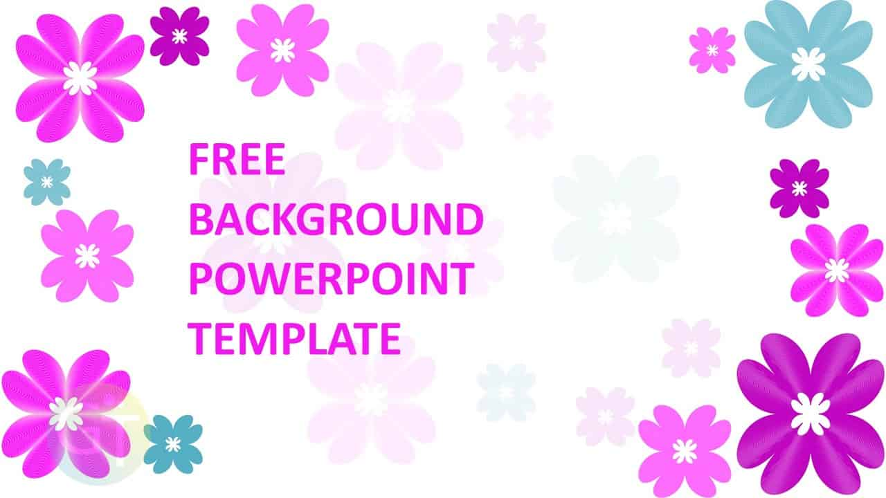 Background Powerpoint Elegant Pink – Flower