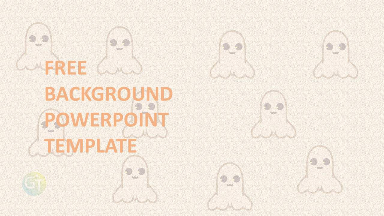 Free Background Powerpoint Template Hallowen