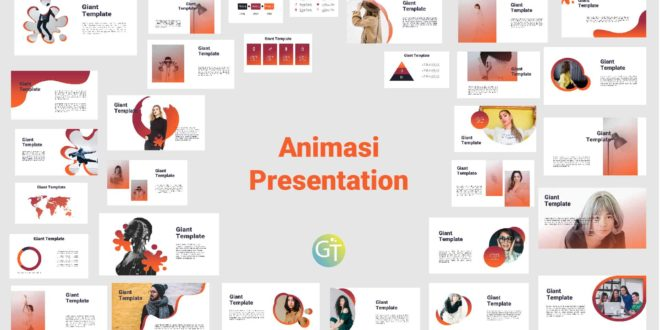 Download Free Template Powerpoint With Animasi cover