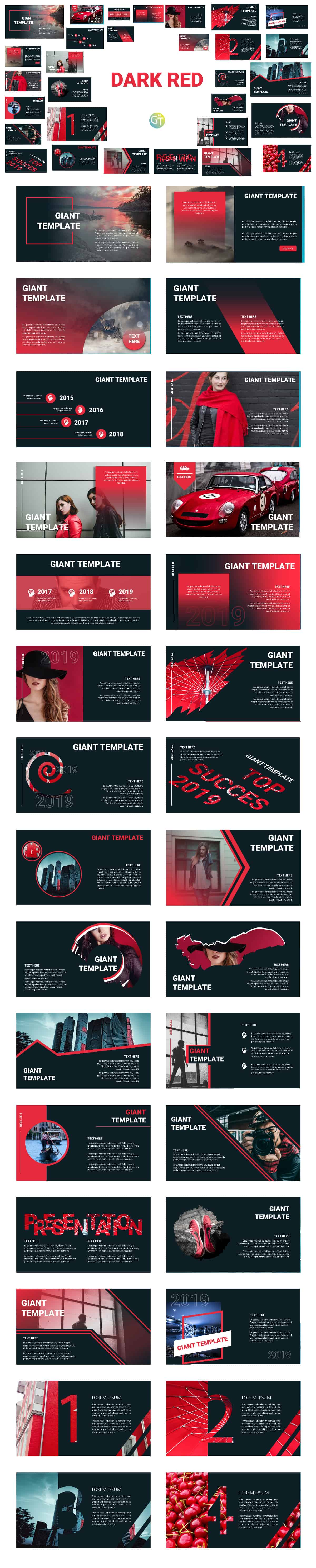 Template PPT dark ded free download