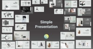 template ppt simple cover