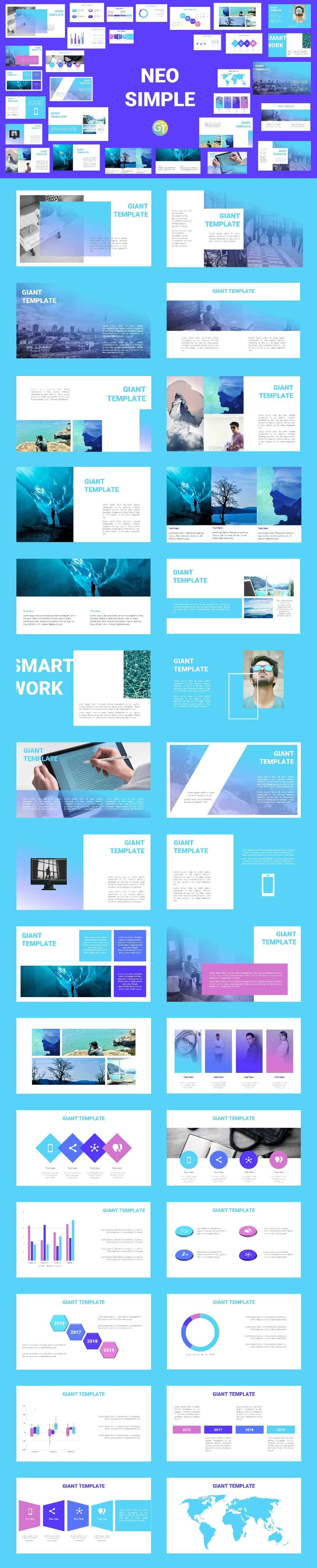 Template PPT Simple Helps to Create Presentation Slides Faster and Easier