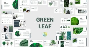green lead ppt template free download