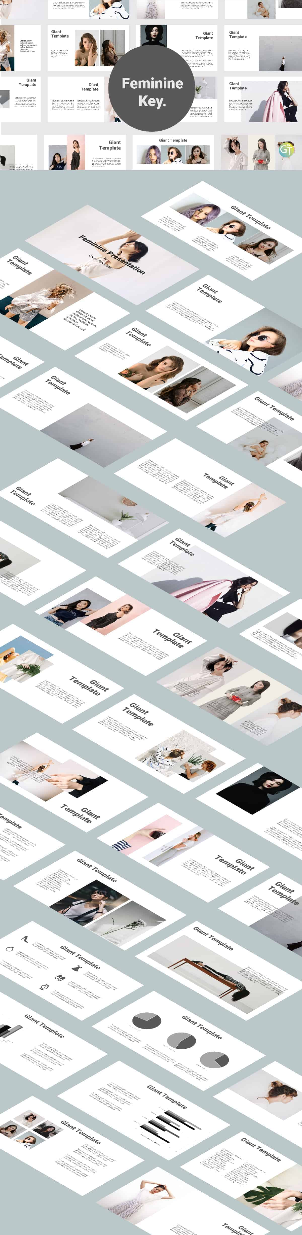 Feminine Keynote Template Free Download