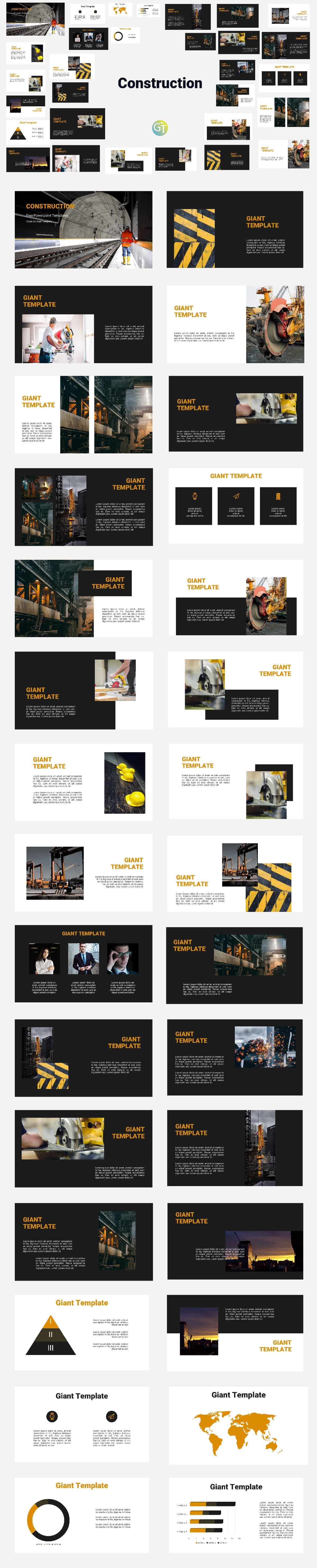 Free Powerpoint Templates Construction