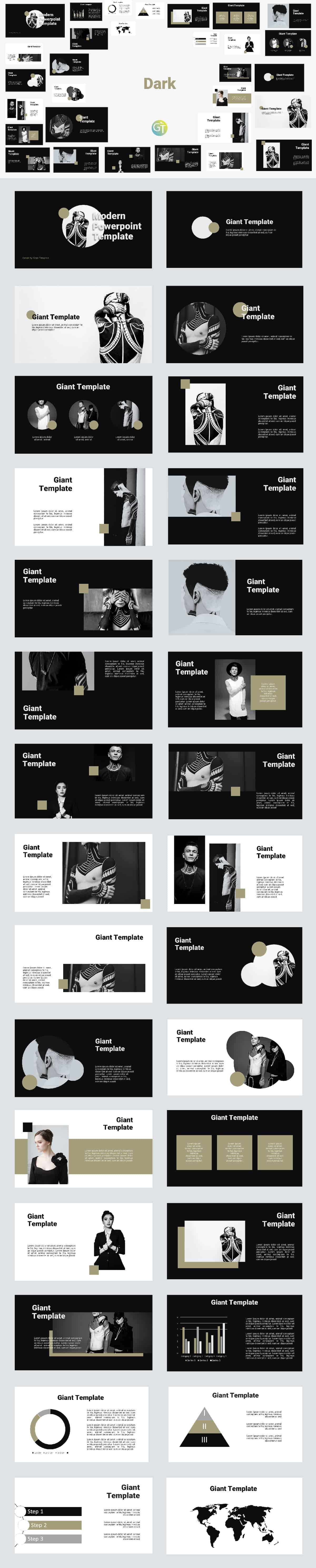 Black and White Free Powerpoint Template