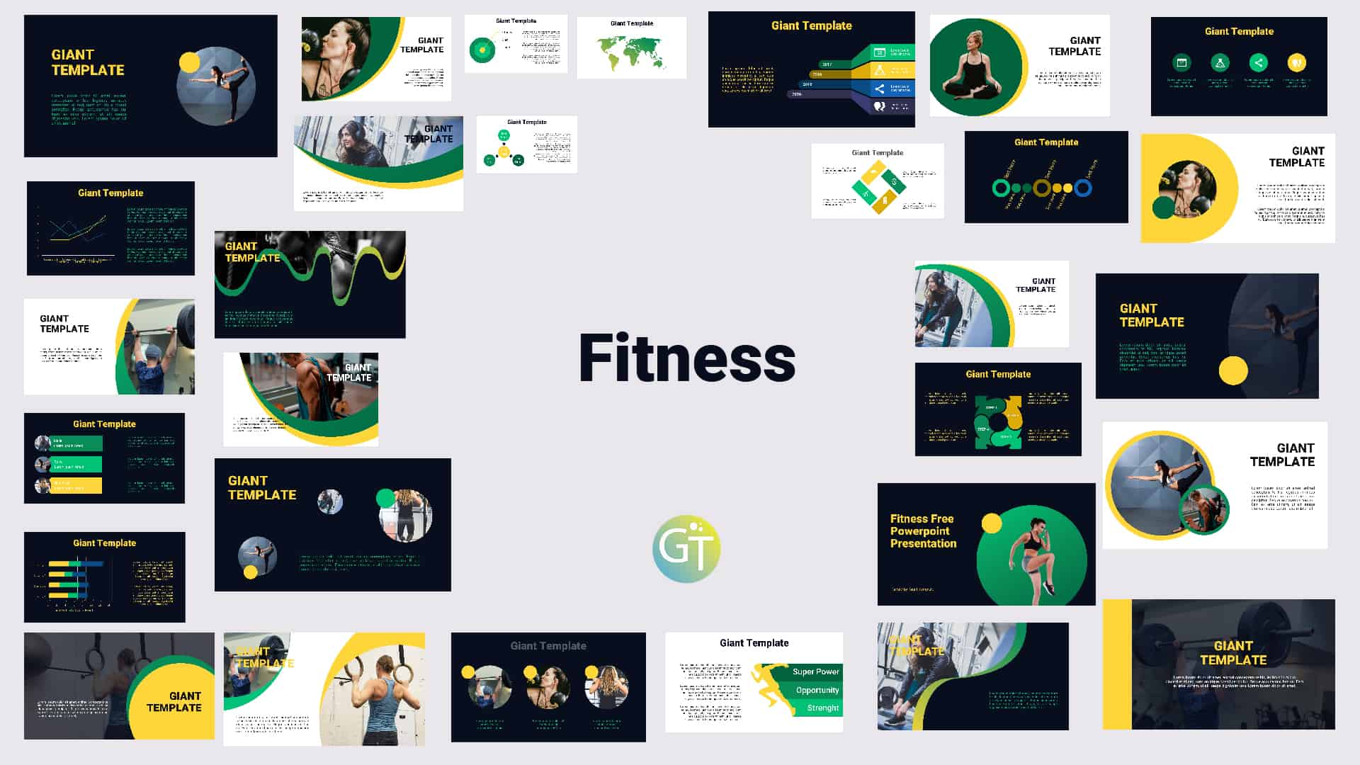 Fitness Free Powerpoint Template