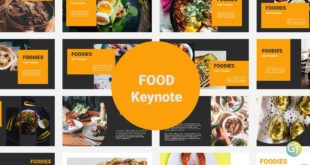 Food Free Keynote Templates Cover