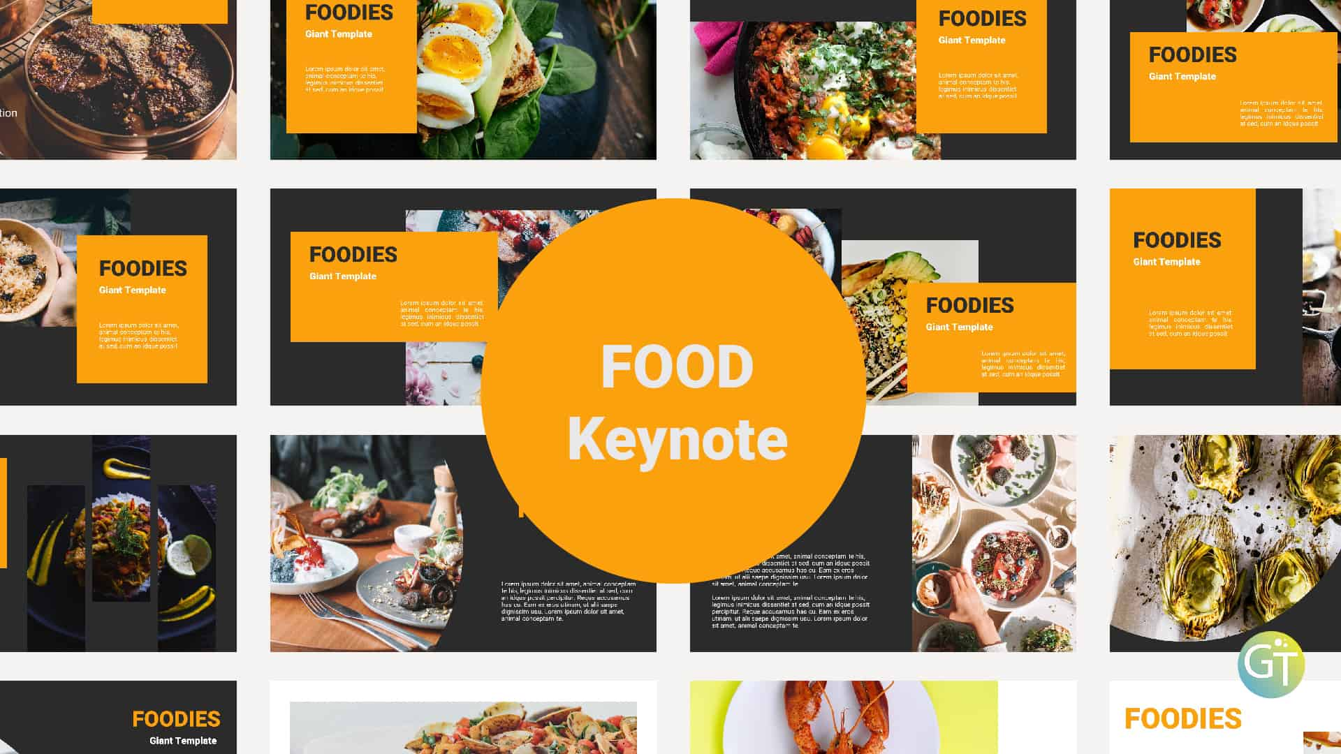 Food Free Keynote Templates