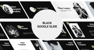 Black and White Free Google Slide Template