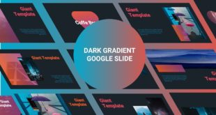 dark gradient free google slide template cover