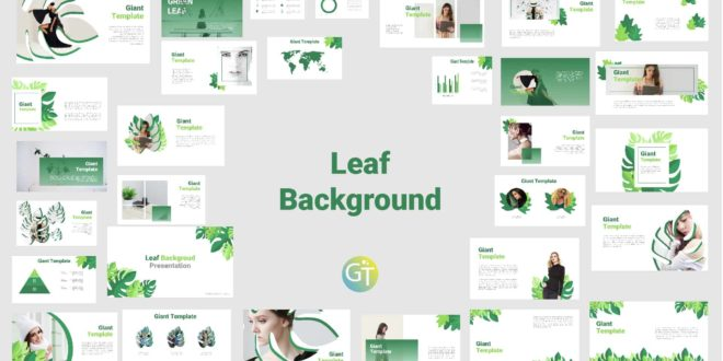 Green Free Background Powerpoint Template with Animation preview