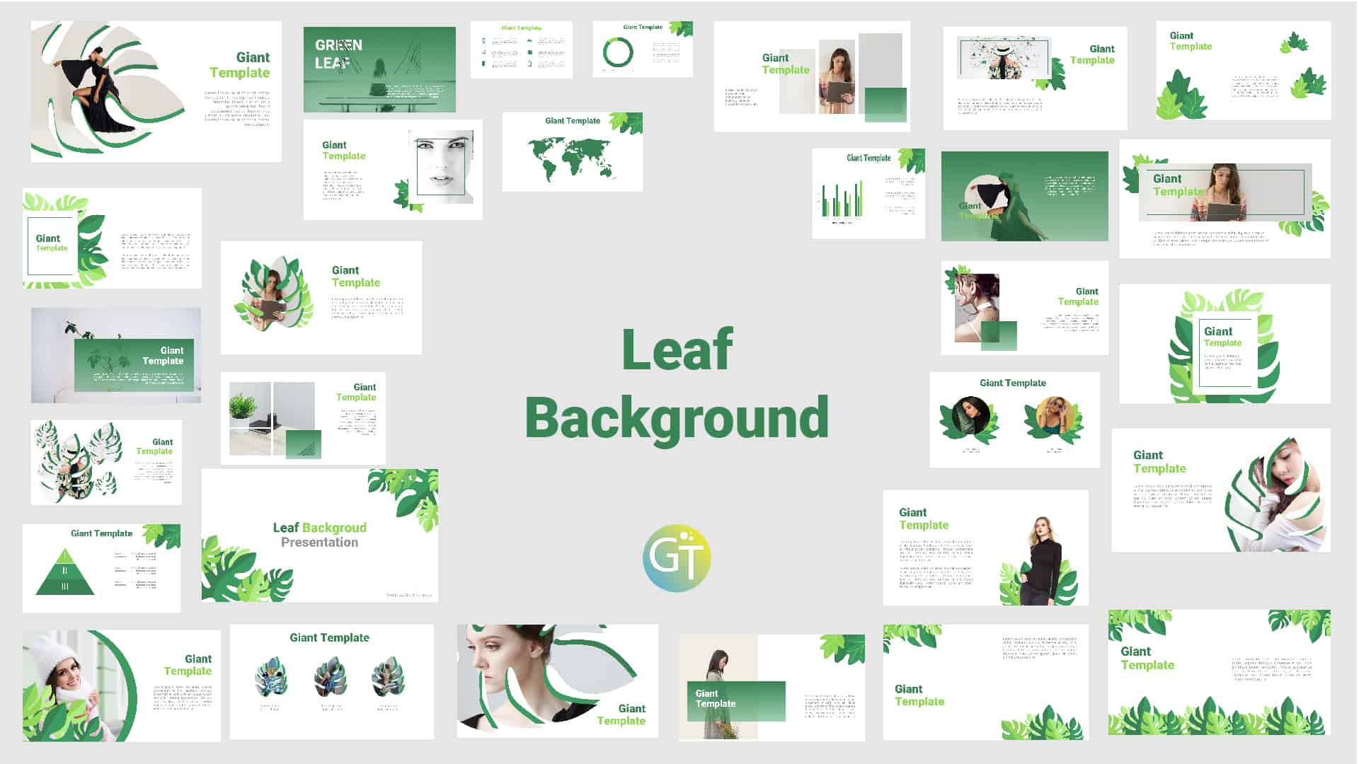 Green Free Background Powerpoint Template with Animation