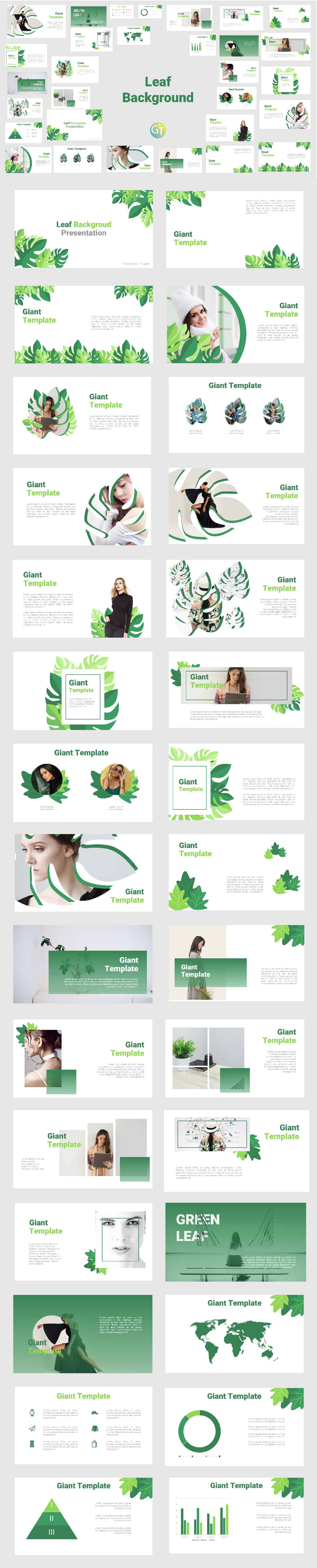 Green Free Background Powerpoint Template with Animation cover