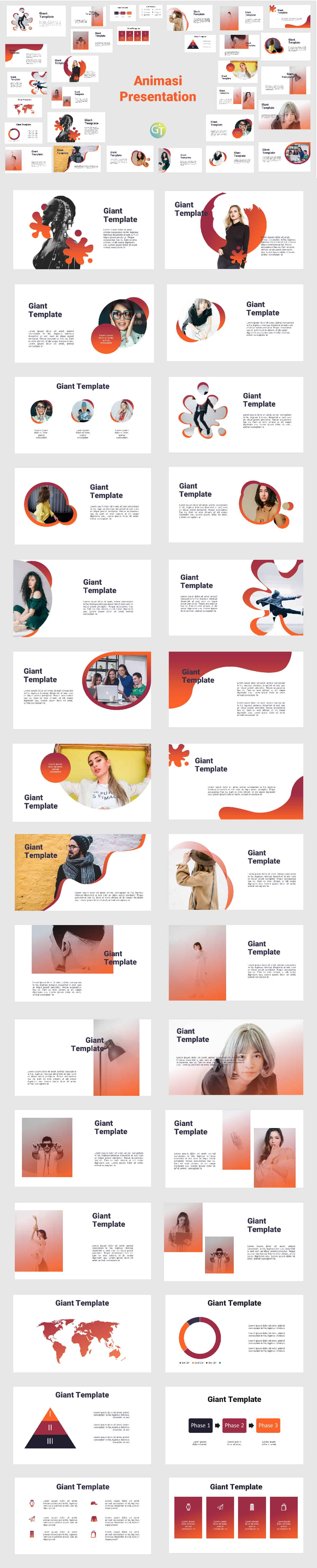 2. Animasi Powerpoint Template Free Download preview