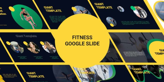 Fitness Free Google Slide Template cover