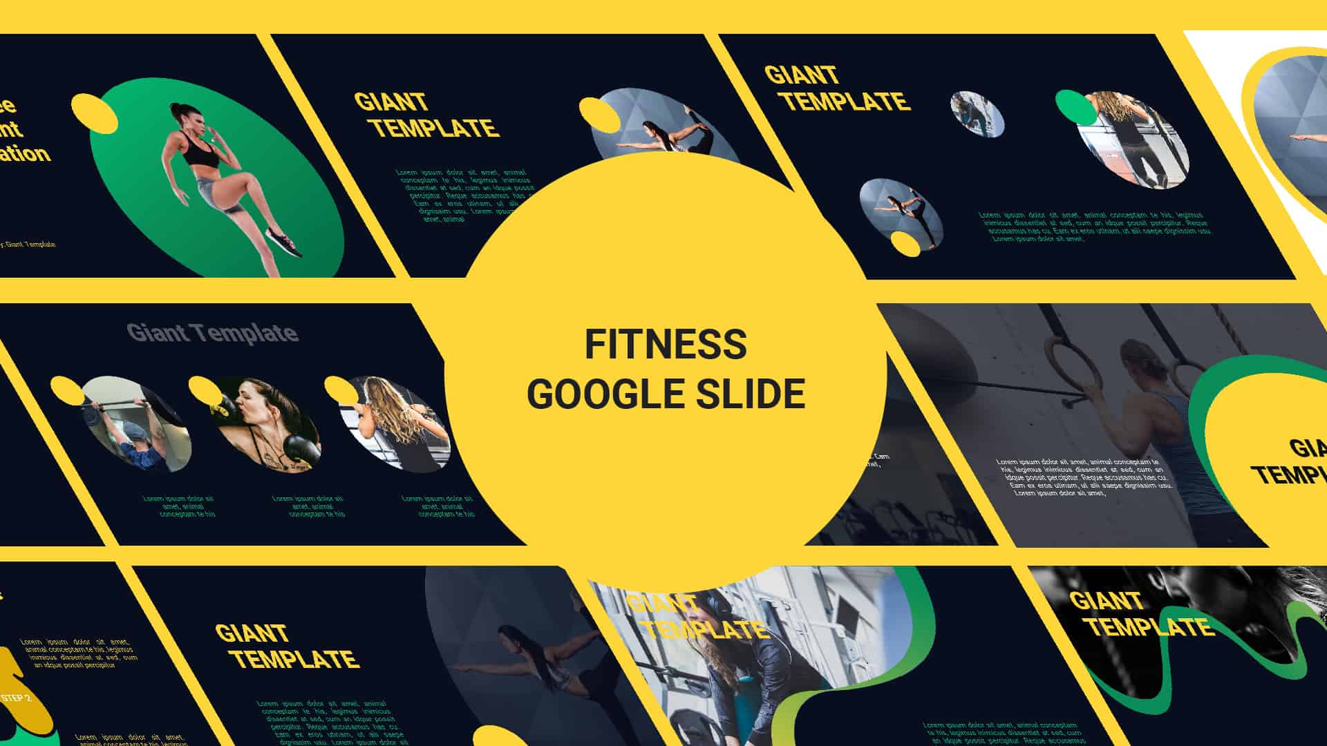 Fitness Free Google Slide Template