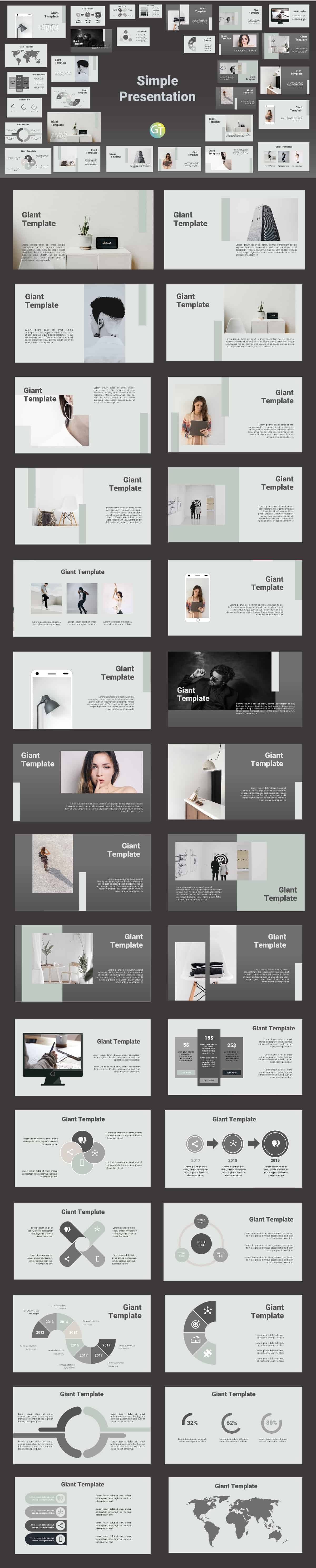template ppt simple preview