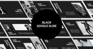 Free Google Slide template Black Cover