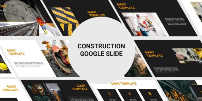 Free Google Slide template construction