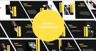 Creative Free Google Slide template cover