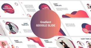 Free Google Slide template Gradient Cover