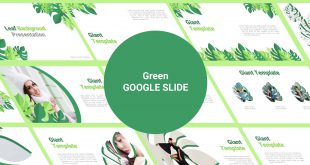 Green Free Google Slide template Cover