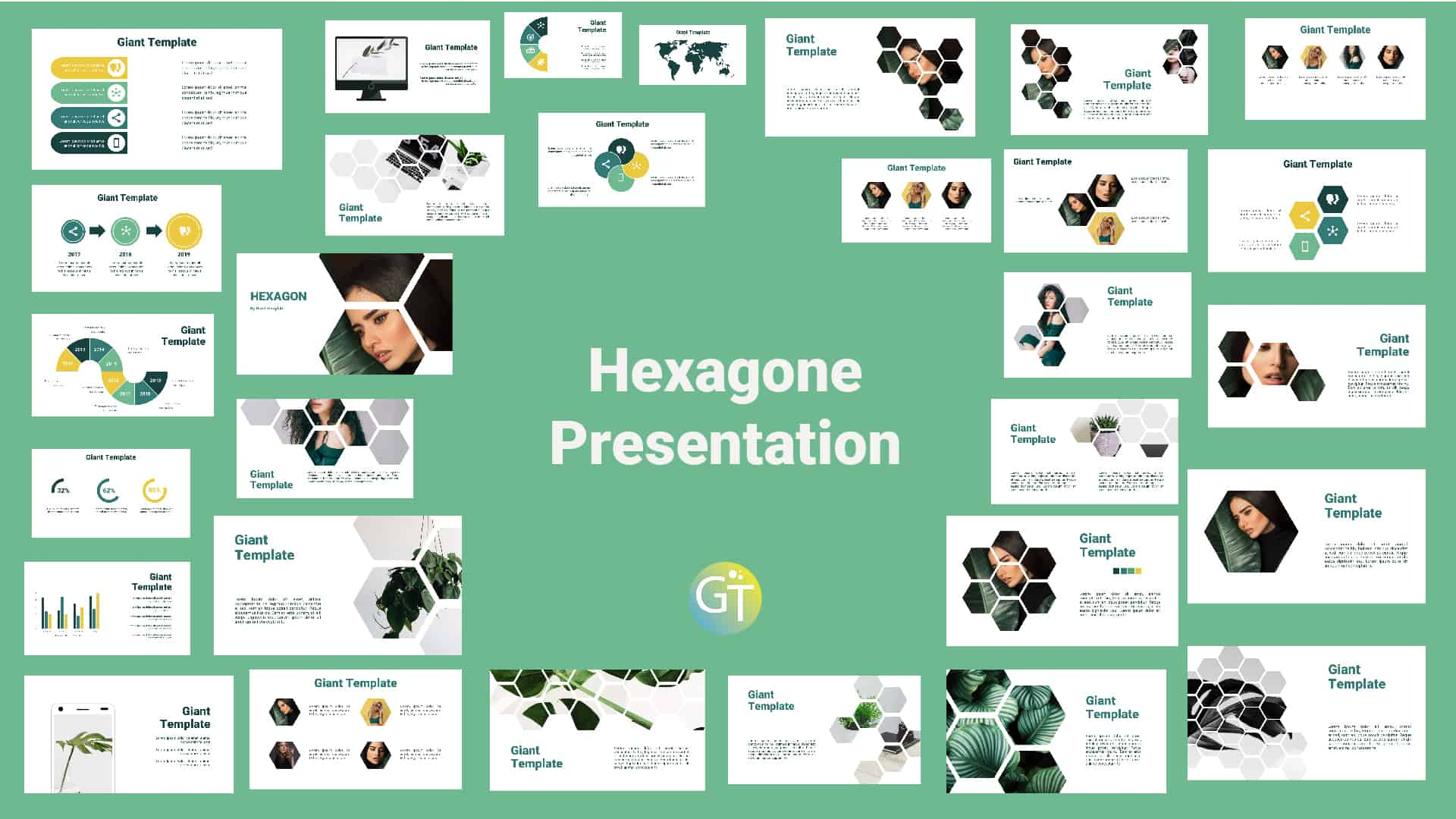 Hexagone Free Powerpoint Template cover