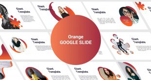 Orange Free Google Slide Template Cover
