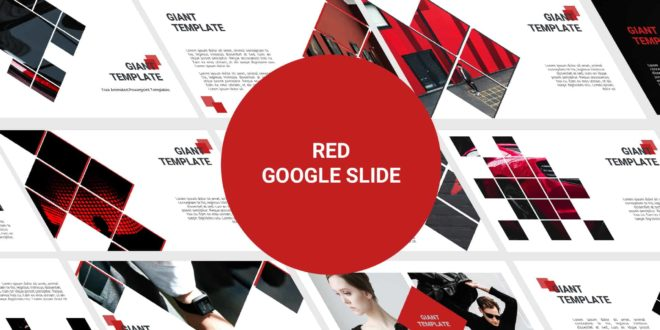 Free Google Slide template Red cover