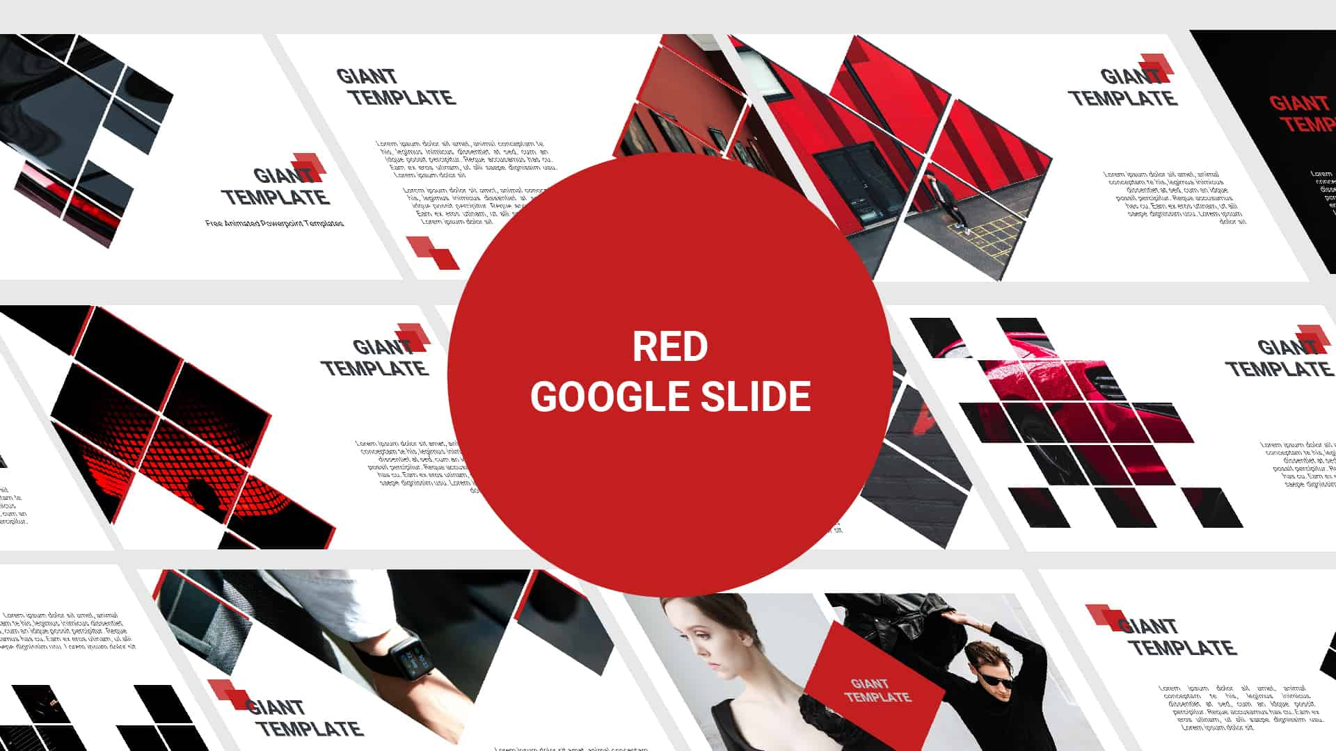 Free Google Slide Template Red