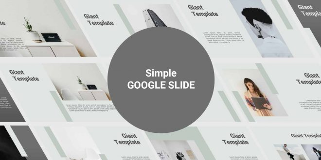Simple Free Google Slide Template Cover
