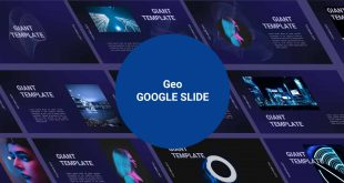 Technology Free Google Slide Template cover