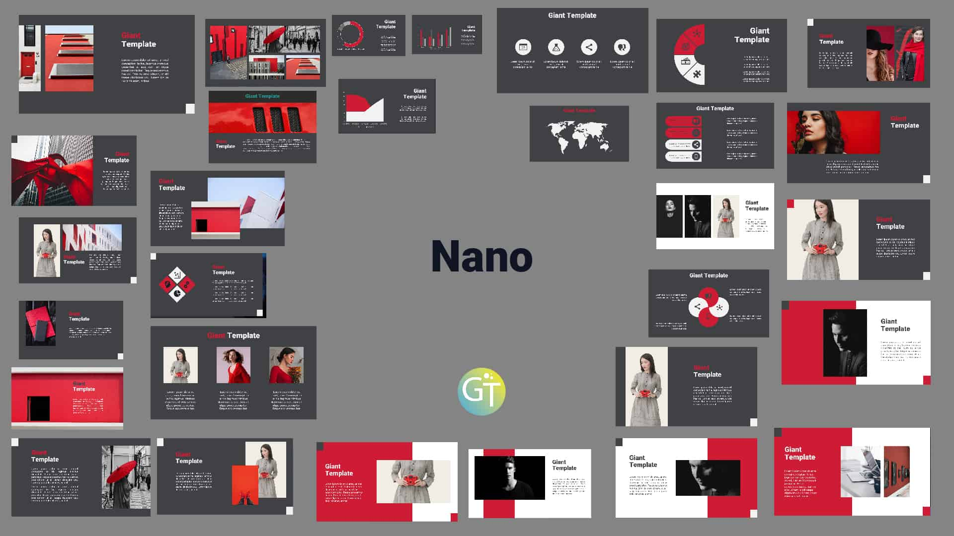 Nano Red Powerpoint Template Presentation