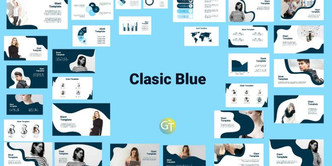 Classic Blue Free Powerpoint Template Presentation Cover