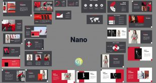 Nano Red Powerpoint Template Presentation preview