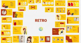 Retro Presentation Template Design