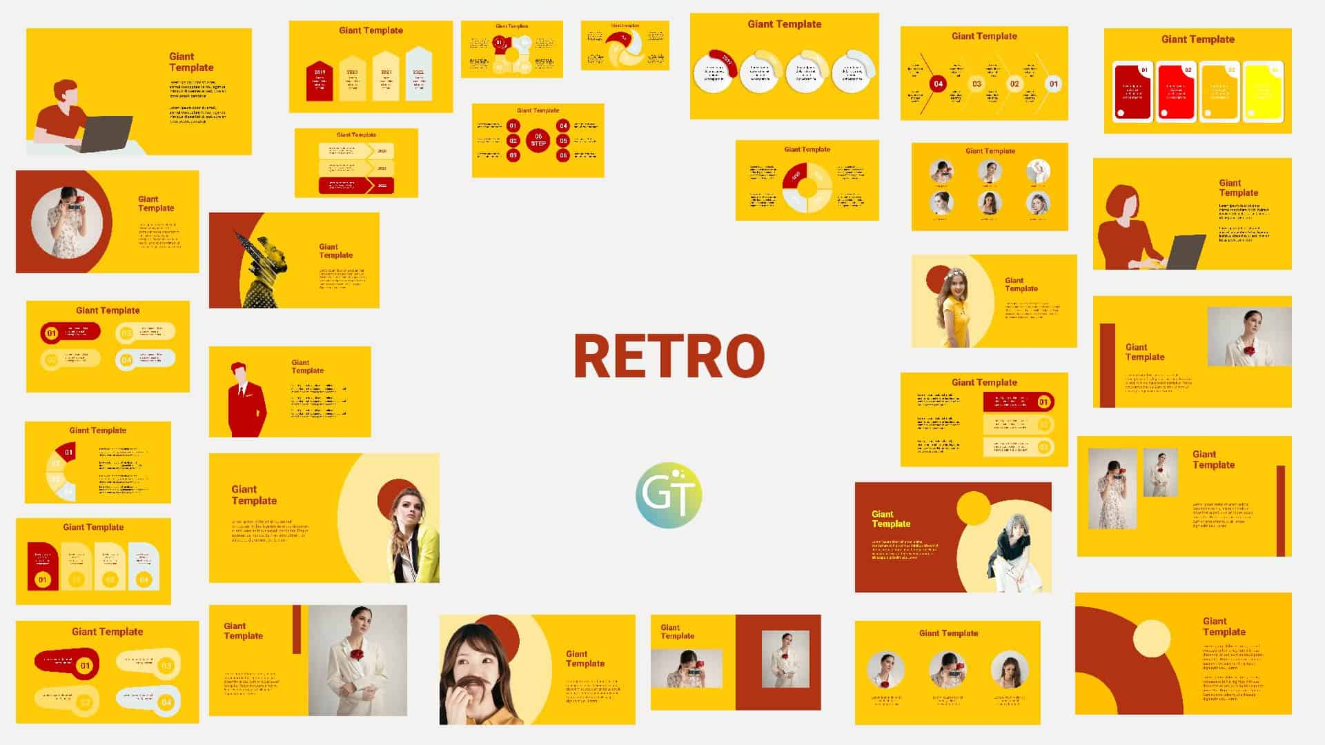 Retro Powerpoint Template Design