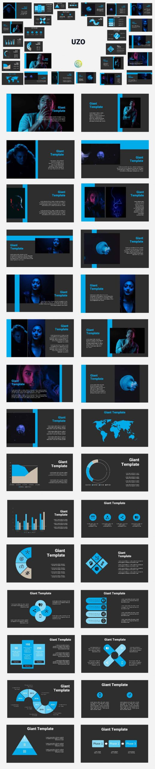 Elegant Dark Blue Powerpoint Presentation preview