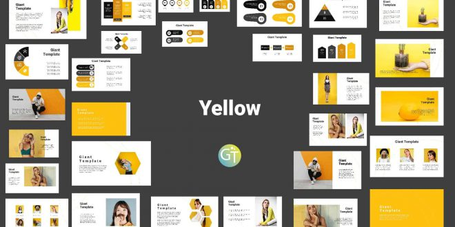 Simple yellow PPT cover